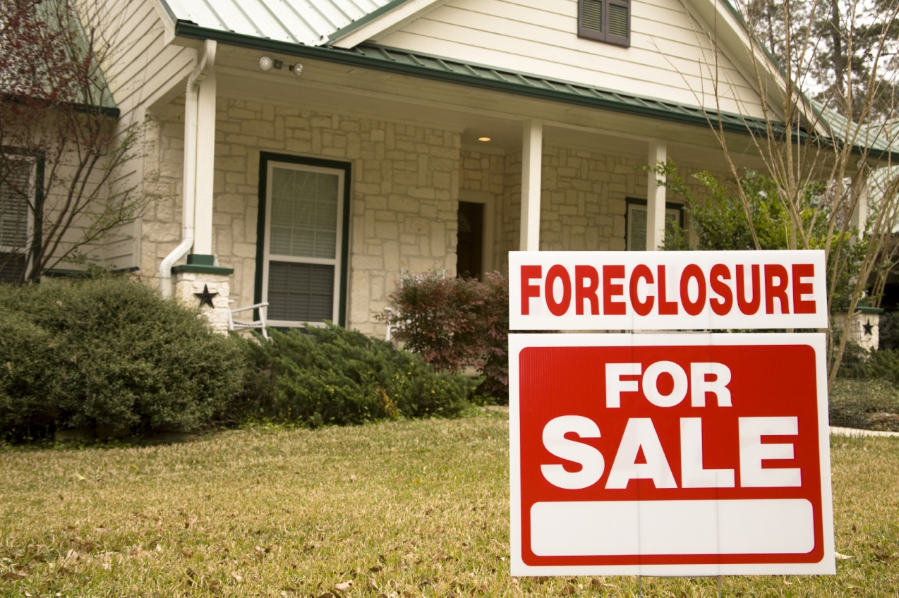 Foreclosure stock photo