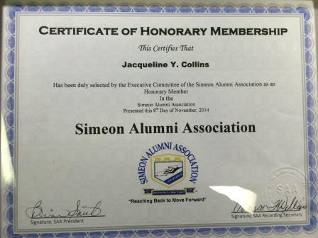 Simeon honorary alumna web